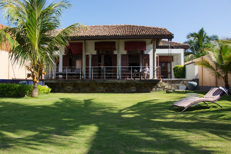 Saldana Beach Villa provides a shady beach side location. The Villa is a Dutch Colonial Style home.