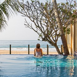 The Service provided by Colonial Villas in Sri Lanka ensures you enjoy total relaxation in the pool at Saldana Beach Villa