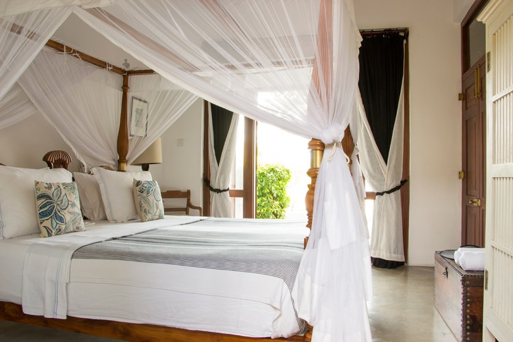 Saldana Beach Villa features light filled, air conditioned grandiose king sized beds in the master suites
