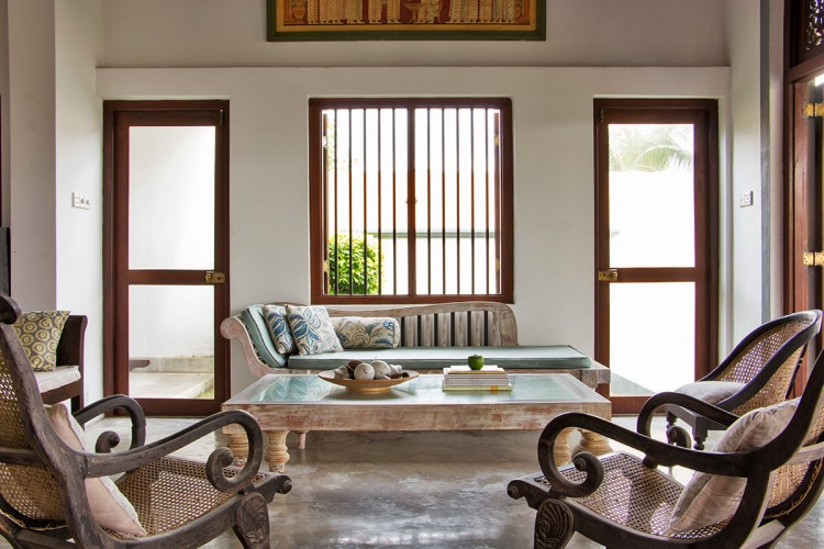Saldana Beach Villa - these Bawa timber and rattan chairs highlight Sri Lanka's love affair with timber and craftsmanship