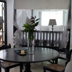 Bedrooms provide private areas in The Well House Unawatuna