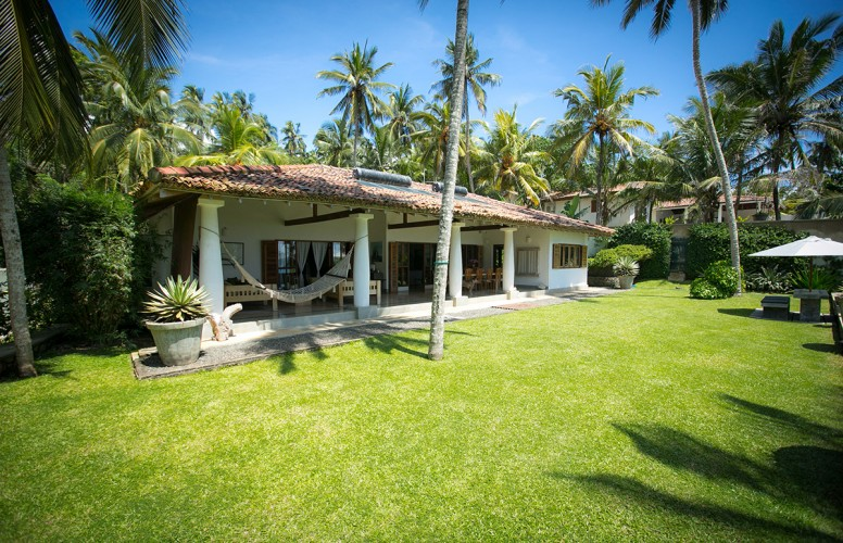Wetakeiya Beach Villa uses solar hotwater, and natural air flow for cooling