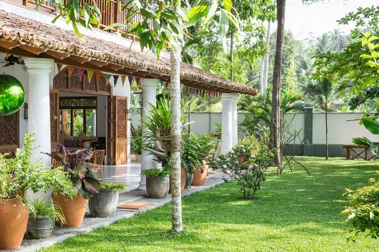 Meda Gedara Beach Villa is both homely and exotic