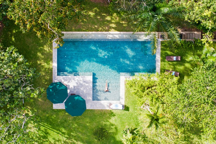 Drone view of the Boundary House infinity pool