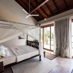 Serendipity Lake View Villa provides guests with fourposter beds with fitted mosquito nets