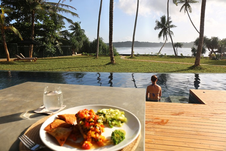 Talalla Beach Villa Dikwella serves Sri Lankan and International cuisine