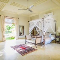 Ranawara Beach Villa has bedrooms that are light and airy, allowing guests to step directly onto the lawns outside