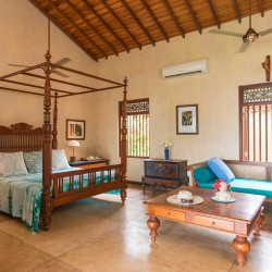 The bedrooms are large, very large at Lansiya Beach Villa Tangalle