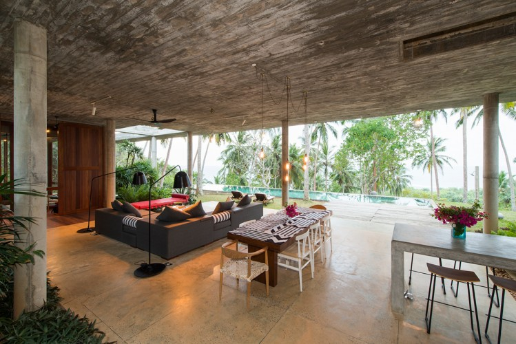 Walatta House in Tangalle Living space