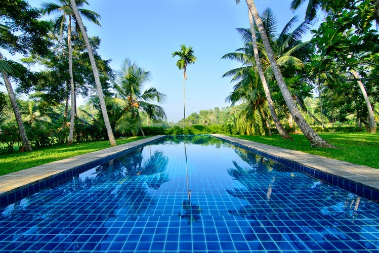 The enormous pool allows for lap swimming Ivory House Habaraduwa