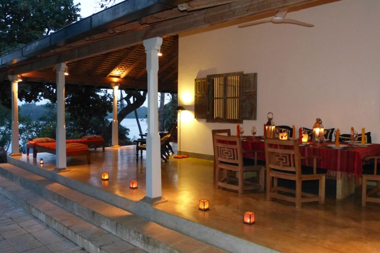 The wide veranda's provide stunning lake views over sunset dinners at Crocodile Rock Villa