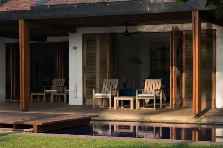 Afternoon poolside at Maggona Beach Villa