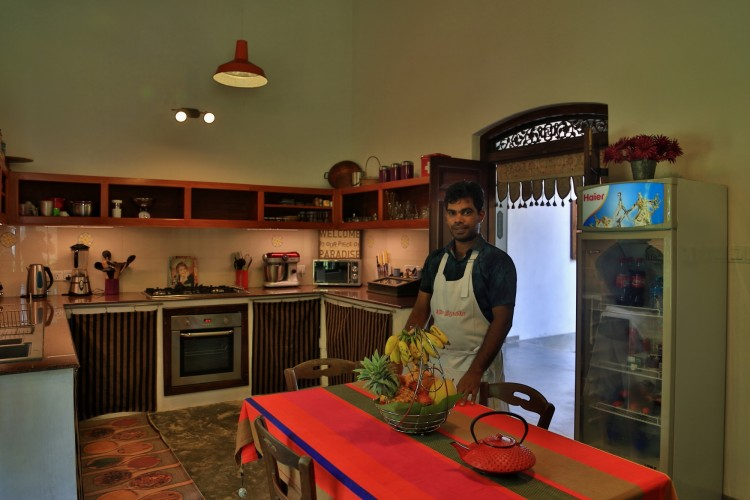 Villa Sepalika has a large kitchen with all modern conveniences to speed up the meal preparation phase