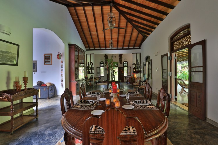 Villa Sepalika's dining room is one of the finest examples of Colonial tradition in Unawatuna