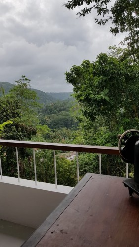 Regent Lodge Villa balconies overlook a jungle decked valley to the river below